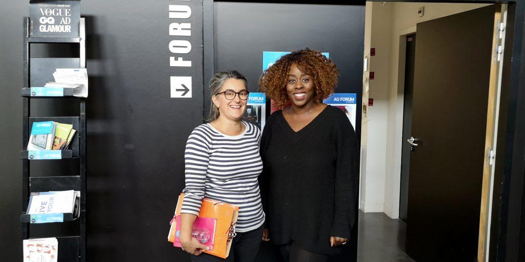 Atelier Communication Digitale - Forum du Rocher de Palmer - Nathalie et Marie