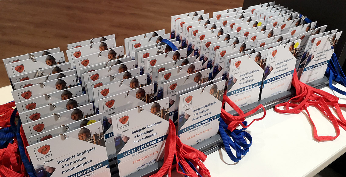 Congrès médical Club Thorax 2019 - Badges