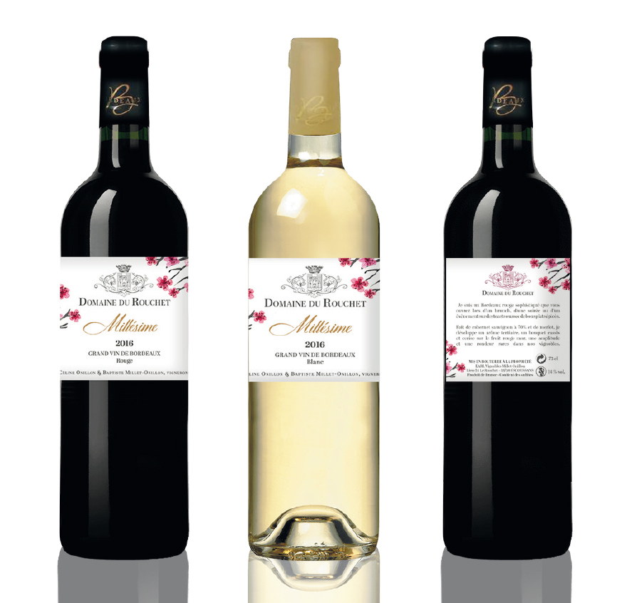 Domaine du Rouchet - Millésime - Étiquettes vin
