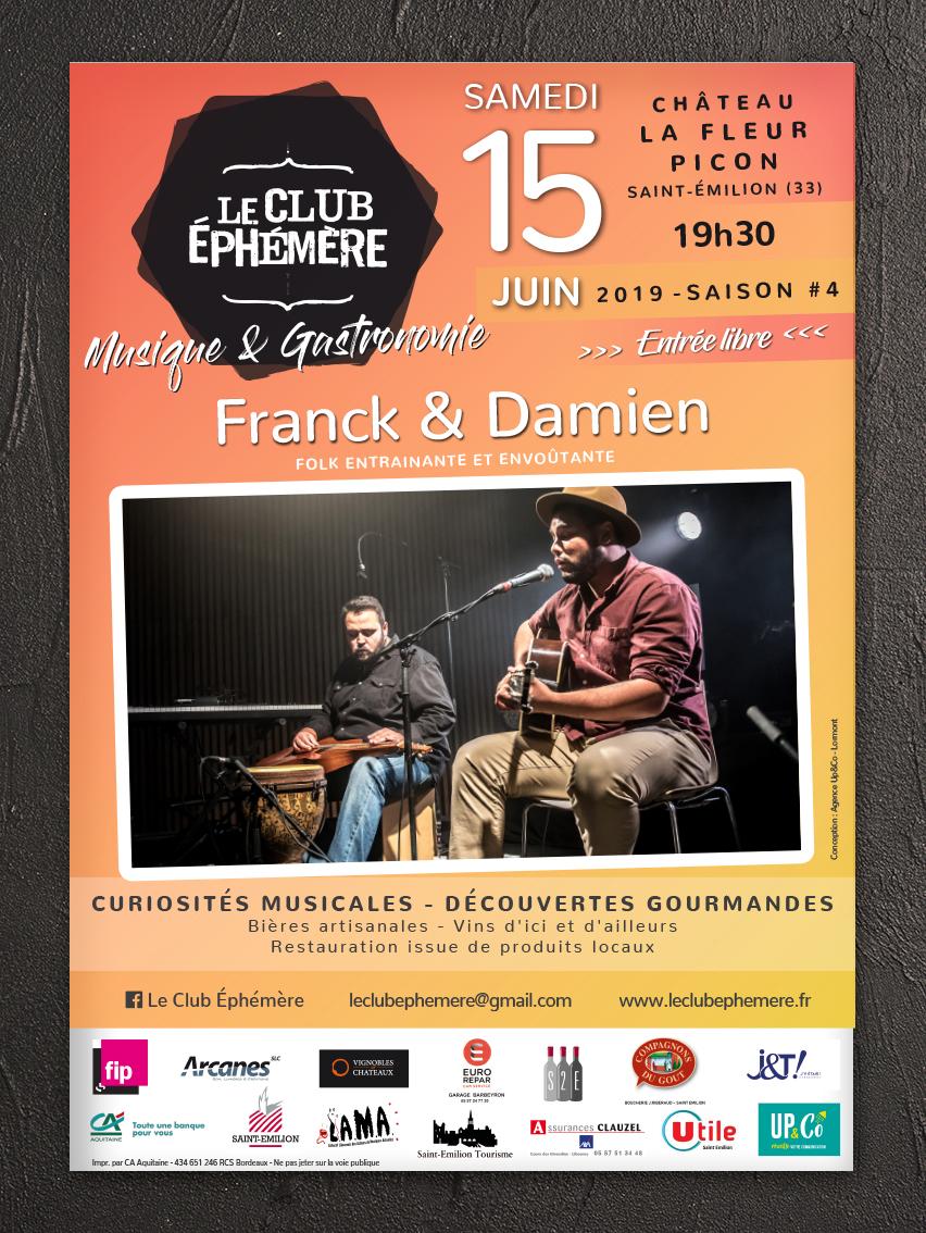 Le Club Éphémère - Concerts et Festival - Saint-Emilion - Affiche