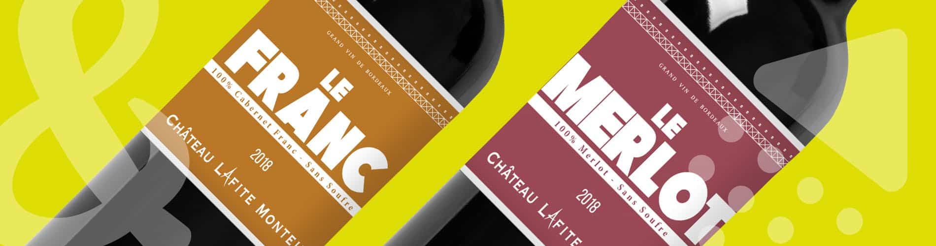 Up&Co étiquettes de vin Château Lafite-Monteil